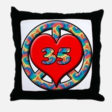 Cute 35 years old Throw Pillow