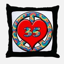 Cute 35 years Throw Pillow