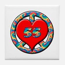 Cute Turning 55 Tile Coaster