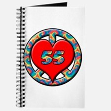 Funny 55 years anniversary Journal