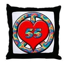 Cute Humorous 55th birthday Throw Pillow