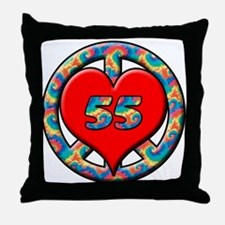 Cute 55 years old Throw Pillow