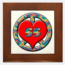 Cute Turning 55 Framed Tile