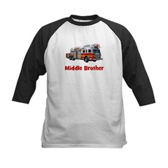 Middle Brother Fire Truck Tee