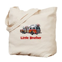 Little Brother Fire Truck Tote Bag