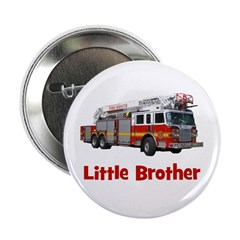 "Little Brother Fire Truck 2.25"" Button"