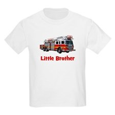 Little Brother Fire Truck T-Shirt