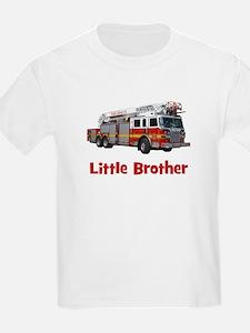 Little Brother Fire Truck T-Shirt