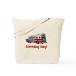 Birthday Boy Fire Truck Tote Bag