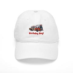 Birthday Boy Fire Truck Baseball Cap