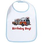 Birthday Boy Fire Truck Bib