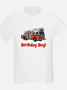 Birthday Boy Fire Truck T-Shirt