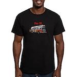 I'm 5! Firetruck Men's Fitted T-Shirt (dark)
