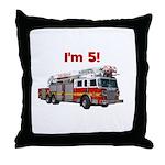 I'm 5! Firetruck Throw Pillow