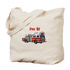 I'm 5! Firetruck Tote Bag