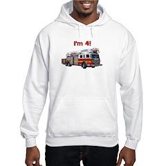 I'm 4! Firetruck Hoodie
