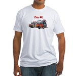 I'm 4! Firetruck Fitted T-Shirt