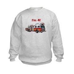 I'm 4! Firetruck Sweatshirt