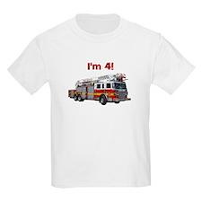 I'm 4! Firetruck T-Shirt