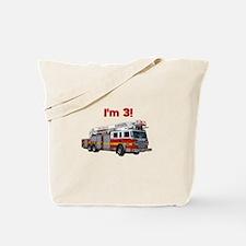 I'm 3! Fire Truck Tote Bag