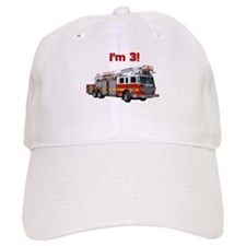 I'm 3! Fire Truck Baseball Cap