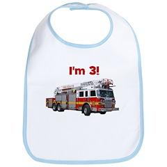 I'm 3! Fire Truck Bib