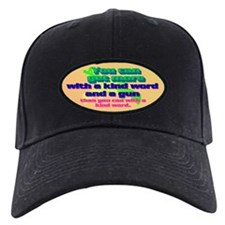 You can get more with a kind word and a gun Baseball Hat