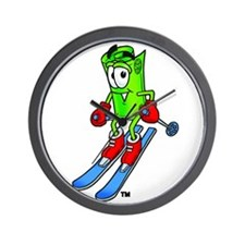 Mr. Deal - Skiing - Money Alw Wall Clock