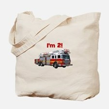 I'm 2! Fire Truck Tote Bag