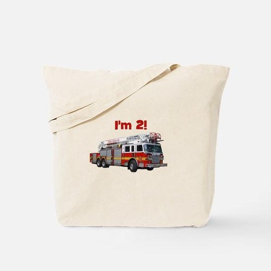 I'm 2! Fire Truck Tote Bag