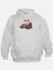 I'm 2! Fire Truck Hoodie