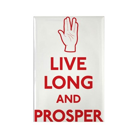 Live Long and Prosper Rectangle Magnet (10 pack)