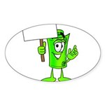 Mr. Deal - What's YOUR Score? Sticker (Oval 10 pk)