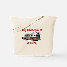 Grandpa Is My Hero FireTruck Tote Bag