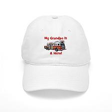 Grandpa Is My Hero FireTruck Baseball Cap