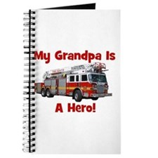 Grandpa Is My Hero FireTruck Journal