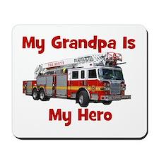 Grandpa Is My Hero FireTruck Mousepad