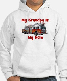 Grandpa Is My Hero FireTruck Hoodie