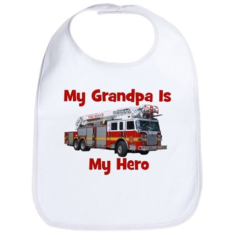 Grandpa Is My Hero FireTruck Bib
