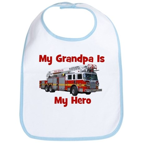 Grandpa Is My Hero FireTruck Bib