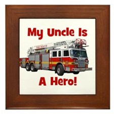 Uncle Is My Hero FireTruck Framed Tile