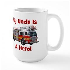 Uncle Is My Hero FireTruck Mug