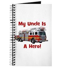 Uncle Is My Hero FireTruck Journal