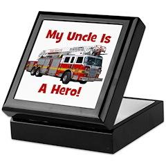 Uncle Is My Hero FireTruck Keepsake Box