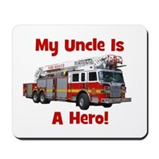 Uncle Is My Hero FireTruck Mousepad