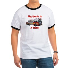Uncle Is My Hero FireTruck Ringer T