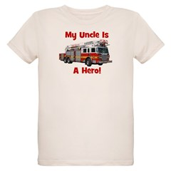 Uncle Is My Hero FireTruck T-Shirt