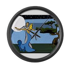 Moon Dance Large Wall Clock