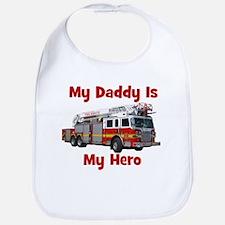 Daddy Is My Hero FireTruck Bib
