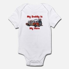 Daddy Is My Hero FireTruck Infant Bodysuit